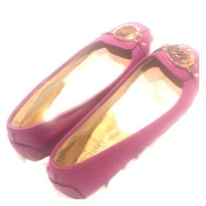 Michael kors flats with accent; magenta